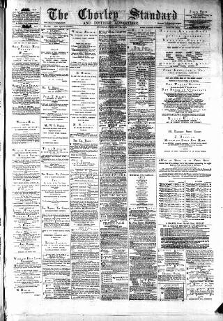 cover page of Chorley Standard and District Advertiser published on February 24, 1883