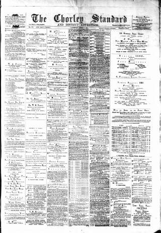 cover page of Chorley Standard and District Advertiser published on June 9, 1883