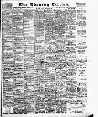 cover page of Glasgow Evening Citizen published on November 24, 1883