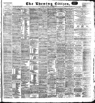 cover page of Glasgow Evening Citizen published on February 20, 1892