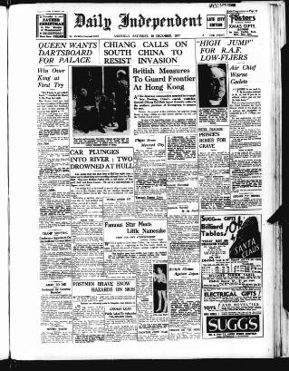 cover page of Sheffield Independent published on December 18, 1937