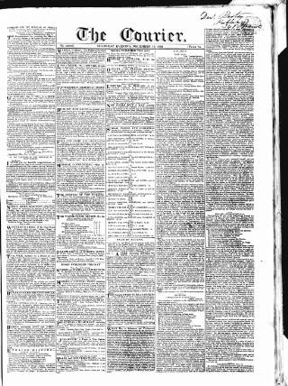 cover page of London Courier and Evening Gazette published on December 13, 1832