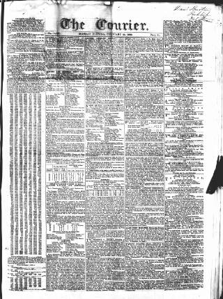 cover page of London Courier and Evening Gazette published on February 25, 1839