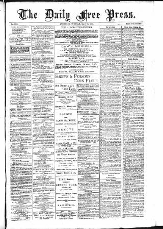 cover page of Aberdeen Free Press published on May 26, 1885