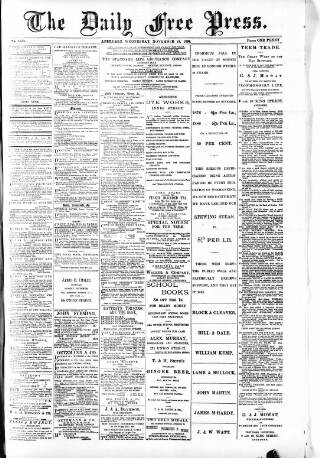 cover page of Aberdeen Free Press published on November 24, 1886
