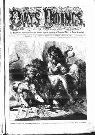cover page of The Days' Doings published on January 13, 1872