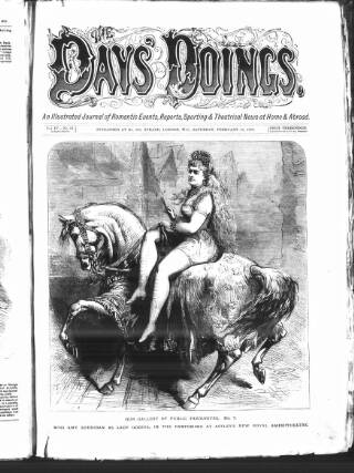 cover page of The Days' Doings published on February 10, 1872