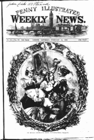 cover page of Illustrated Weekly News published on February 24, 1866