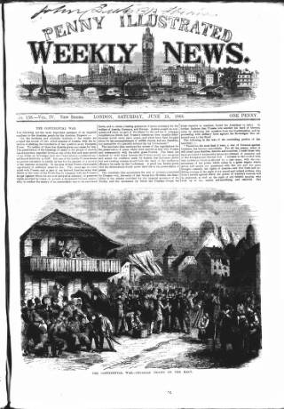 cover page of Illustrated Weekly News published on June 23, 1866