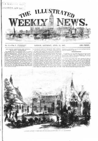 cover page of Illustrated Weekly News published on April 20, 1867
