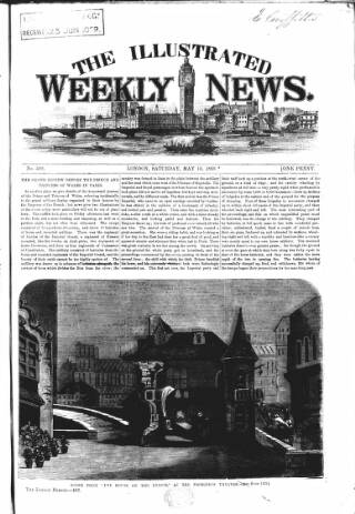 cover page of Illustrated Weekly News published on May 15, 1869