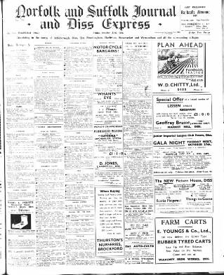 cover page of Diss Express published on October 23, 1936