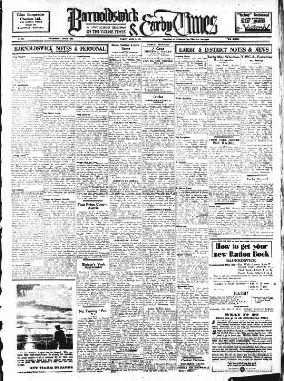 cover page of Barnoldswick & Earby Times published on June 1, 1945
