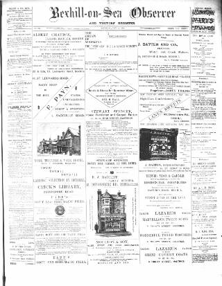 cover page of Bexhill-on-Sea Observer published on May 26, 1900