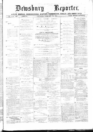 cover page of Dewsbury Reporter published on February 16, 1884
