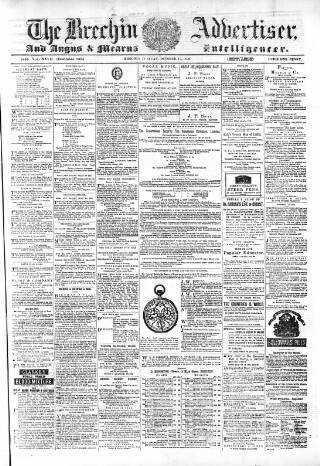 cover page of Brechin Advertiser published on October 17, 1876