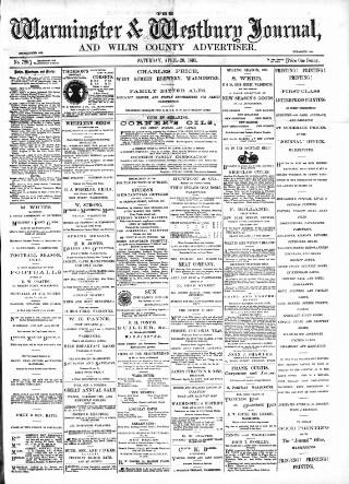 cover page of Warminster & Westbury journal, and Wilts County Advertiser published on April 20, 1895
