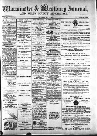cover page of Warminster & Westbury journal, and Wilts County Advertiser published on May 18, 1901