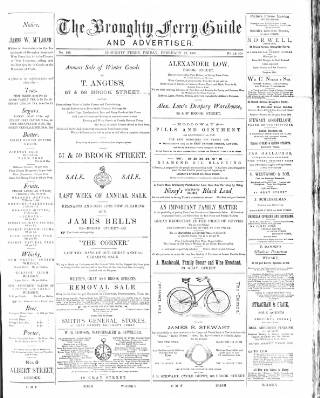 cover page of Broughty Ferry Guide and Advertiser published on February 27, 1891