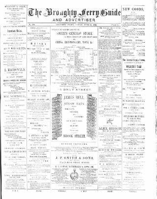 cover page of Broughty Ferry Guide and Advertiser published on June 24, 1892