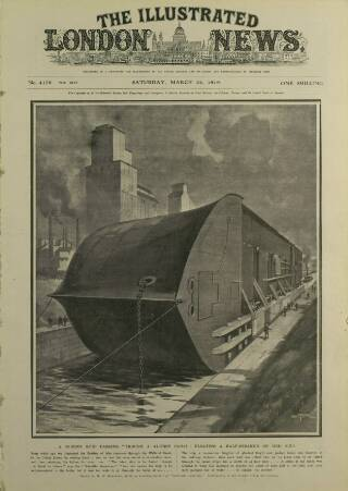 cover page of Illustrated London News published on March 22, 1919