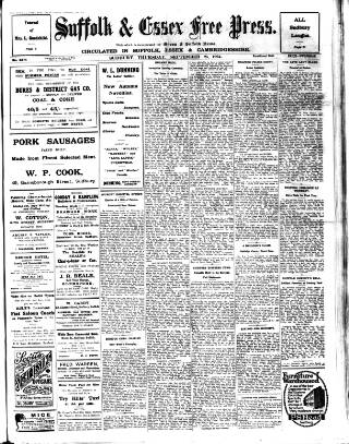 cover page of Suffolk and Essex Free Press published on September 25, 1924