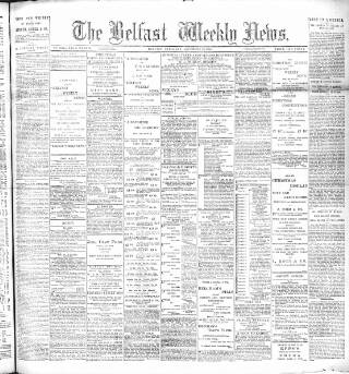 cover page of Belfast Weekly News published on December 16, 1893