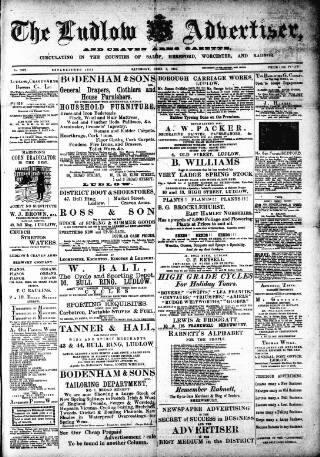 cover page of Ludlow Advertiser published on June 1, 1901