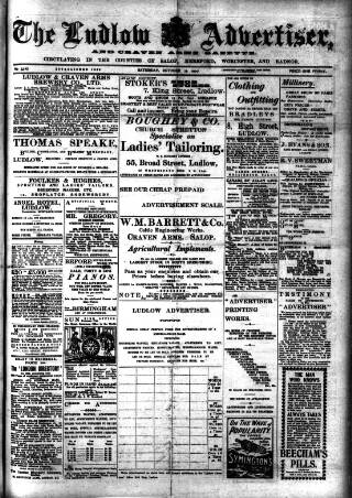 cover page of Ludlow Advertiser published on October 19, 1907