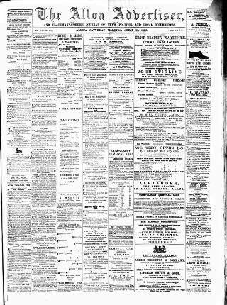 cover page of Alloa Advertiser published on April 18, 1896