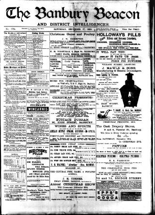 cover page of Banbury Beacon published on December 17, 1898