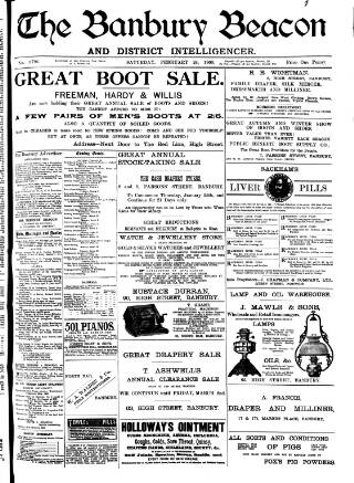 cover page of Banbury Beacon published on February 24, 1900