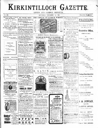 cover page of Kirkintilloch Gazette published on December 14, 1901