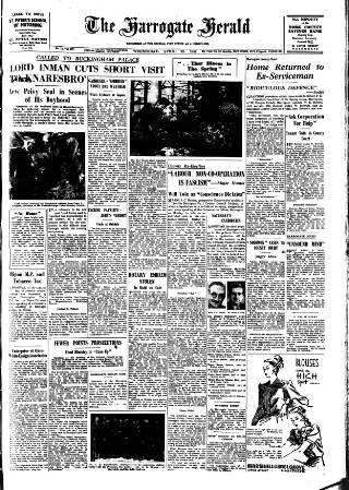 cover page of Harrogate Herald published on April 23, 1947
