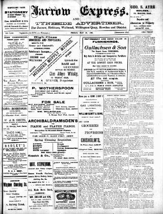 cover page of Jarrow Express published on May 16, 1913