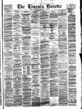 cover page of Lincoln Gazette. published on May 16, 1874