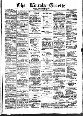 cover page of Lincoln Gazette. published on December 15, 1877