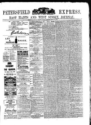 cover page of Petersfield Express published on February 4, 1879