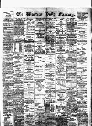 cover page of Western Daily Mercury. published on December 19, 1881