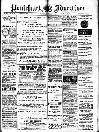 cover page of Pontefract Advertiser published on March 7, 1891