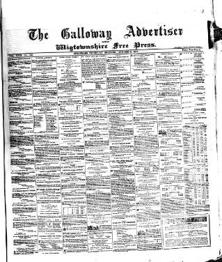 cover page of Galloway Advertiser and Wigtownshire Free Press. published on October 31, 1872