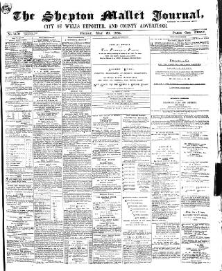 cover page of Shepton Mallet Journal published on May 29, 1885