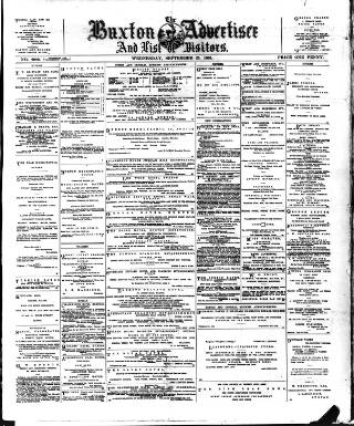cover page of Buxton Advertiser published on September 25, 1901