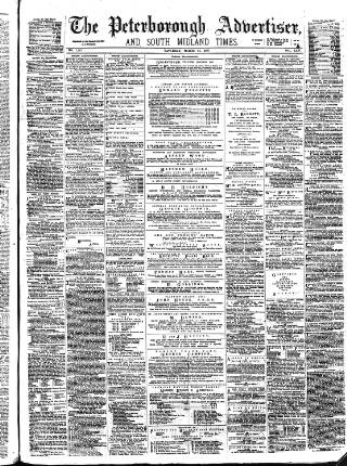 cover page of Peterborough Advertiser published on March 24, 1877