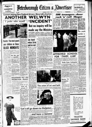 cover page of Peterborough Advertiser published on June 4, 1957