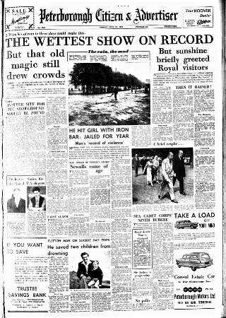 cover page of Peterborough Advertiser published on July 19, 1957