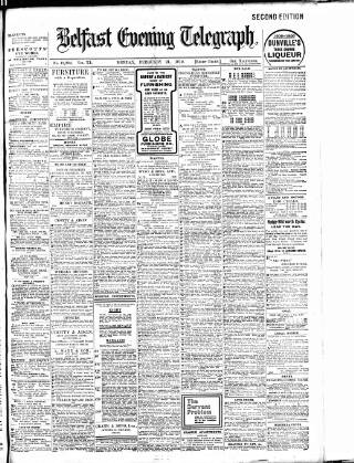 cover page of Belfast Telegraph published on February 21, 1910