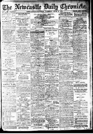 cover page of Newcastle Daily Chronicle published on June 3, 1913