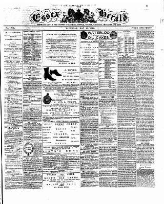 cover page of Essex Herald published on May 16, 1885