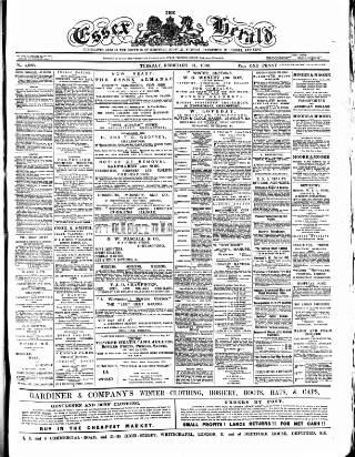 cover page of Essex Herald published on February 21, 1888